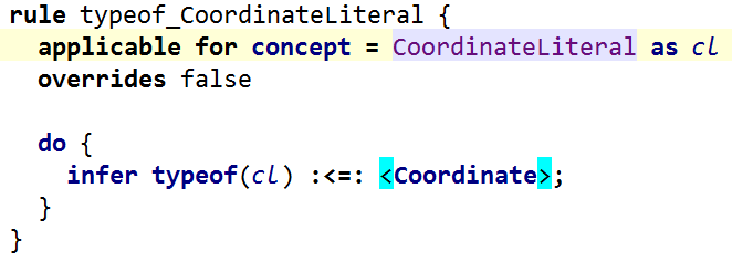 CoordinateLiteral is of type CoordinateType